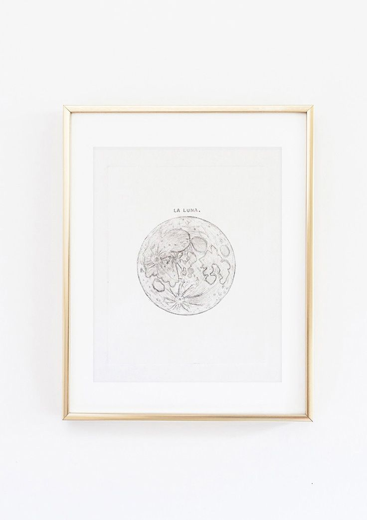 Set Forth Studio – Moon Plexiglass Eteching Print, $45 // This La Luna art print will look gorgeous on your wall, and makes a great gift. Buy it now in the shop!