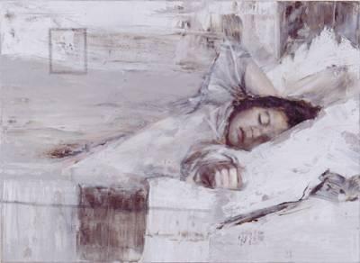 Ilkka Lammi (1976-2000) Armelias uni / En barmhärtig dröm 2000 oil on canvas 70 x 100 cm private collection