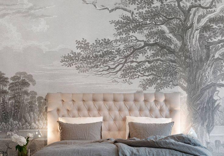 Papier peint adela de au fil des couleurs papiers peints wallpaper pinterest le fil - Au fil des couleurs papier peint ...