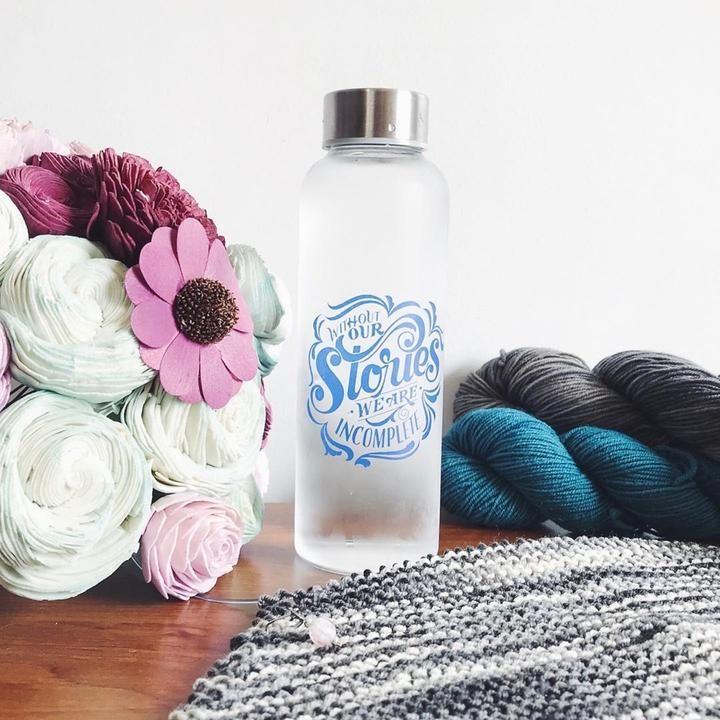 Stardust Glass Water Bottle Owlcrate In 2020 Water Bottle Glass Water Bottle Bottle