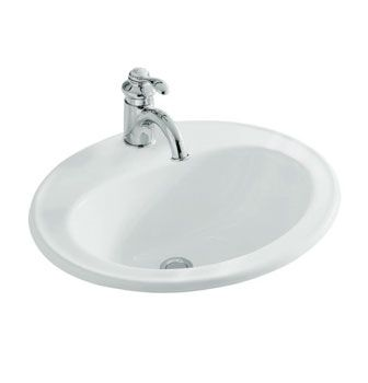 Pennington® Self-Rimming Basin 1TH  Features:    Self rimming installation  Unique basin overflow outlet