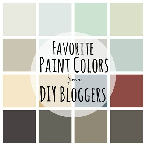 Favorite Paint Colors from DIY Bloggers (Cloud Cover, Deep Caviar, Paladian Blue, Rich Cream, Sea Foam, Crushed Seed, Seal, Mercer, Mint Condition, Restrained Gold, Smoky Blue)