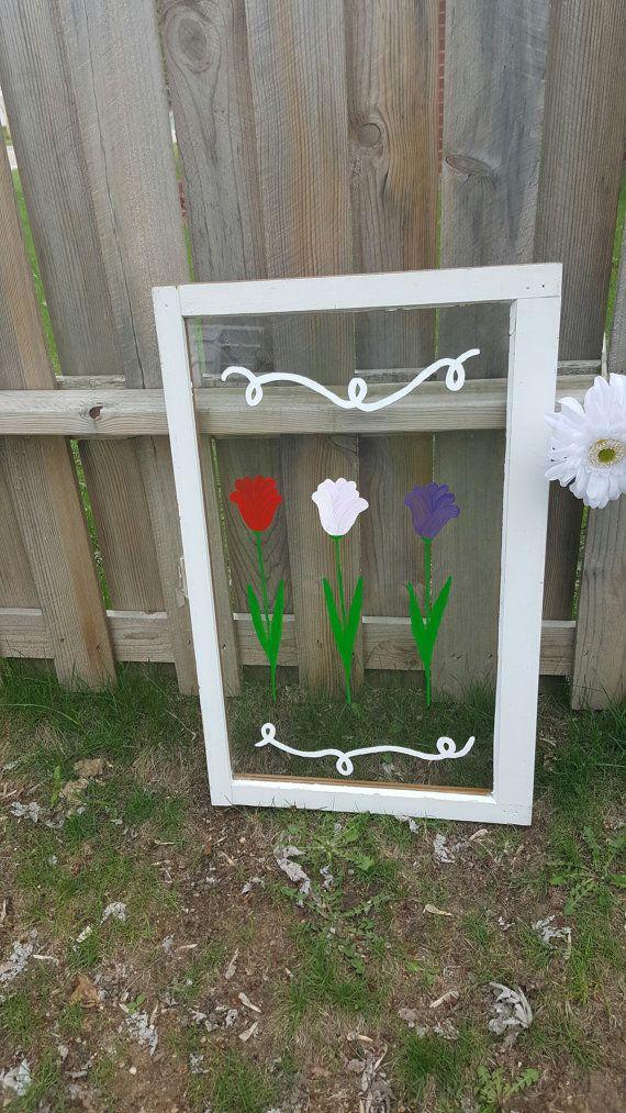 Single Pane Window, Primitive Crafts, Folkart, Farmhouse Decor,Cottage Decor, Wedding Decor, Garden Outdoor Decor, Patio, Porch Decor