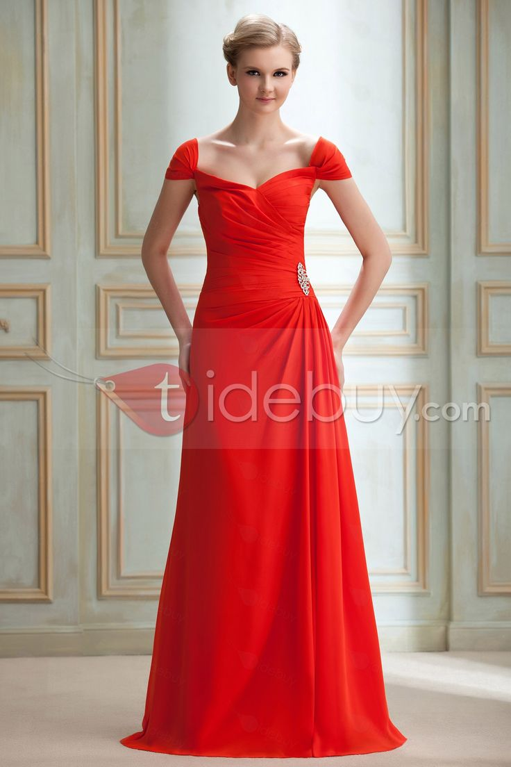 #Yana's #Popular #One-the-shouldre Elegant A-Line Crystal Floral Pin One-the-shouldre Floor-Length Yana's Bridemaids Dress