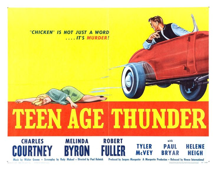 Teen age thunder: Movie Posters, Thunder Chicken, Picture-Black Posters, Bad Movie, Cine Posters, Teenage Thunder, Vintage Movie, Teen Age, Thunder 1957