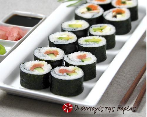 Σπιτικά σούσι!!! (maki sushi) #sintagespareas