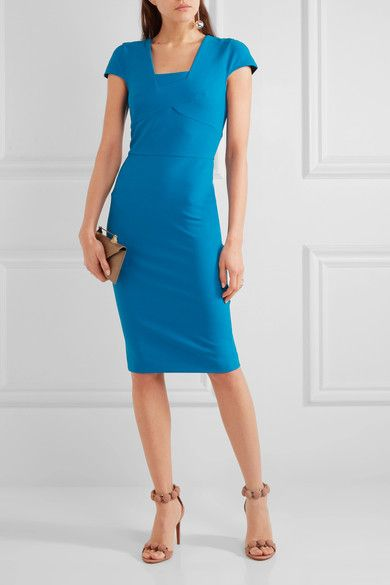Roland Mouret - Whistler Stretch-crepe Dress - Blue - UK6