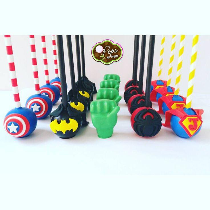Super hero cake pops for John John's 4th birthday. @oneinspiredparty you did an amazing job with this event. #superheroes #superheroparty #boy #sweets #cakepops #cakebites #captainamerica #batman #hulk #spiderman #superman #miamisweets #love #instapic #instalove #instayum #miami #marvel #marvelcomics #opopsbyangie