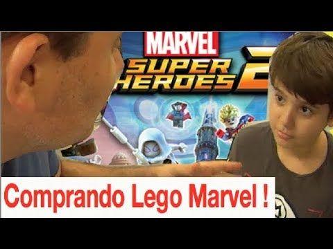 Papai RG na Livraria Saraiva para comprar Lego Marvel Super Heroes 2 e L...