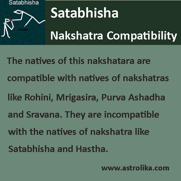 Satabhisha #nakshatra is most compatible to #Rohini, #Mrigasira