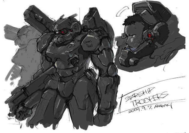 Starship Troopers: Invasion concept drawings | Le site du film peut être consulté à cette adresse : http://www ...