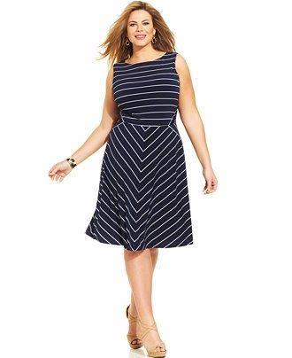 Fabulosos vestidos de moda cortos para gorditas | Vestidos para mujeres gorditas