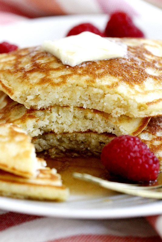 Fluffy Coconut Flour Pancakes | girlversusdough.com @girlversusdough #glutenfree #breakfast #recipe