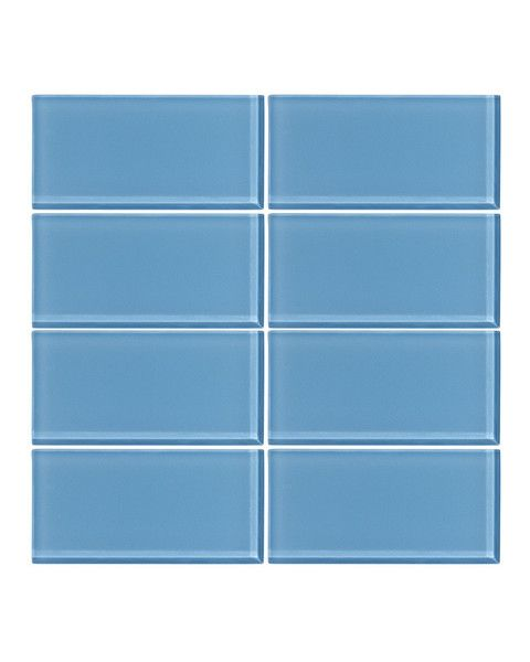 Perfect Sky Blue x Glass Subway Tile