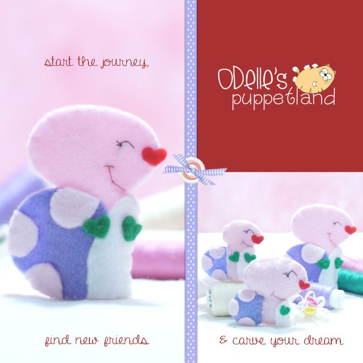tazz the turtle...one of the 50 cute characters in odelle's puppetland.  Each character here, is available for the finger puppet, pencil puppet mini puppet.  Get them for only rp7.000/each.  Contact me: odellespuppetland... sms/wa : 0896 420 97 266 ping me! 7448EE1E  #fingerpuppet #puppet #odellespuppetland #handmade #craft #felt #bonekajari #turtle #pink #baby #kids #edutoys