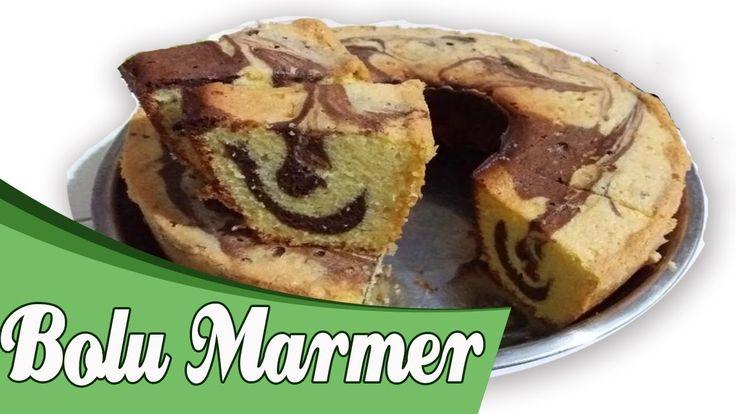 Cooking video : Marble cake or Bolu Marmer.