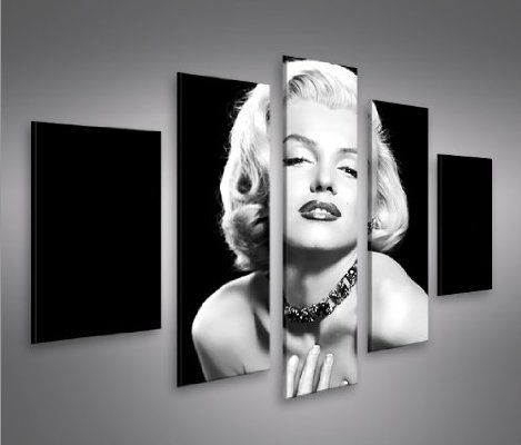 Marilyn Monroe V6-5 Giclee Canvas Art Picture Print NEW Modern Wall Art 5 Pieces