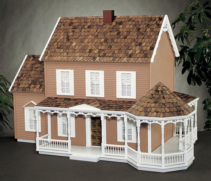Give your miniature dollhouse a genteel touch with this lovely Victorian Gazebo Porch Kit. The engineered precut parts and hand-split, octagonal pine wood roof shingles reflect the high quality crafts