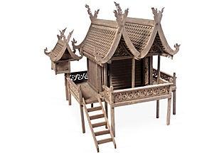 One Kings Lane - Davis Dalbok, Living Green - Hand-Carved Spirit House I    (would make a cute dollhouse, no?)