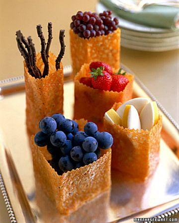 "Edible Cookie ""Bags"" - Martha Stewart Weddings Inspiration"