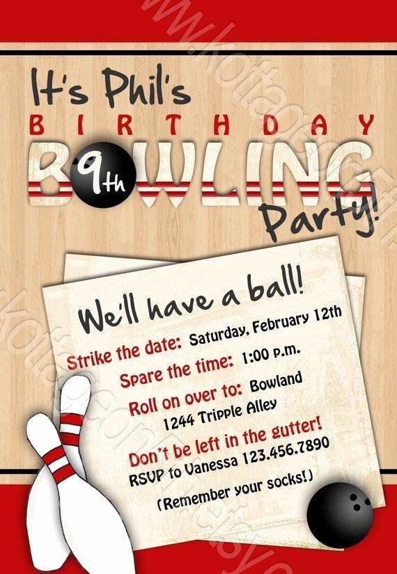 Bowling Party Invitation Wording Awesome Bowling Party Printable Birthday I In 2020 Bowling Birthday Party Invitations Bowling Birthday Party Bowling Party Invitations