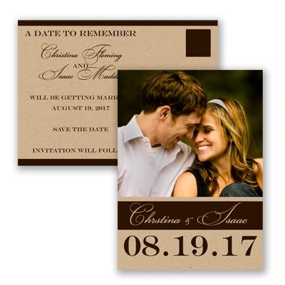 Photo Kraft Love - Save the Date Postcard