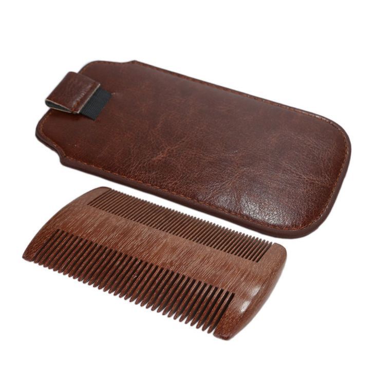 Newest Arrival Sandalwood Comb- Wooden Anti-static Handmade Pocket Unisex Hair and Beard Woodeen Comb