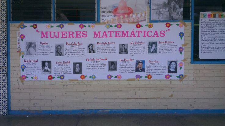 Periodico mural mujeres matematicas cosas de matematicas for Diario el mural de jalisco