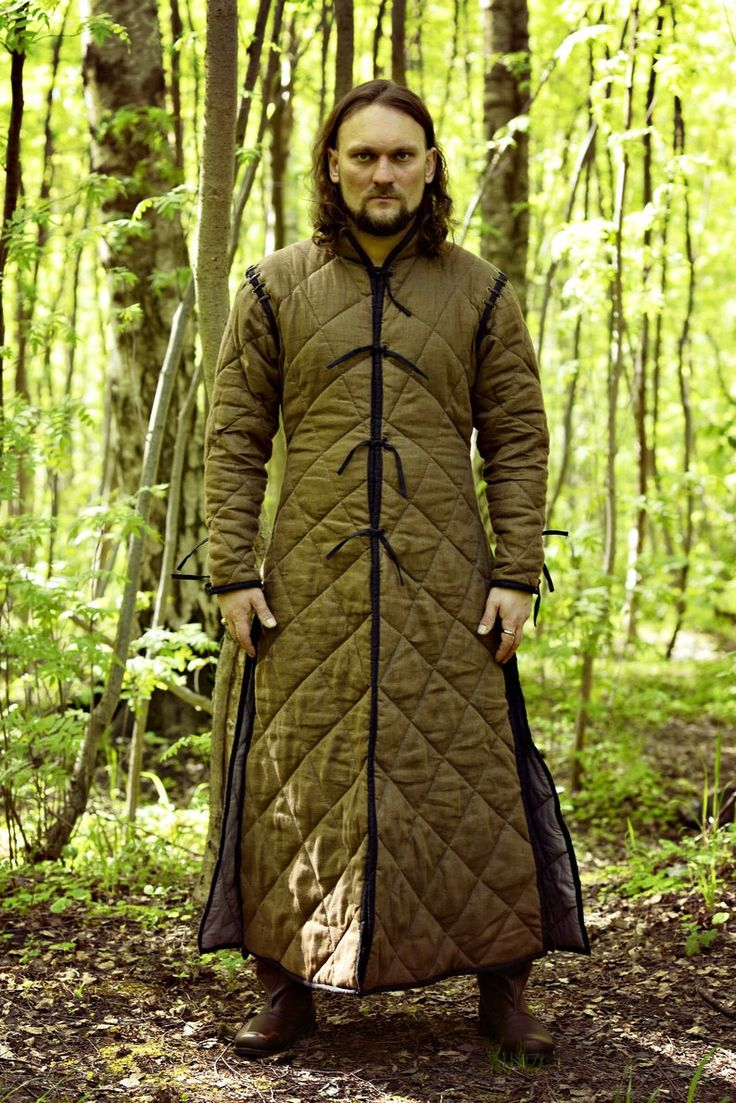 Long gambeson coat medieval padded gambeson under armour