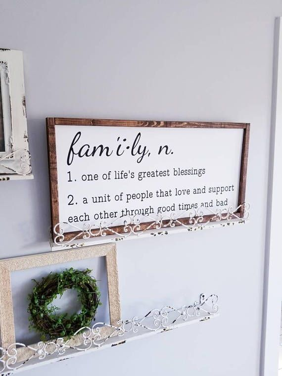Family Sign Family Quote Sign Framed Sign Wood Wall Art Quote