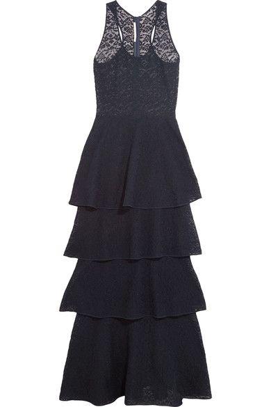 Stella McCartney - Tiered Lace Maxi Dress - Navy