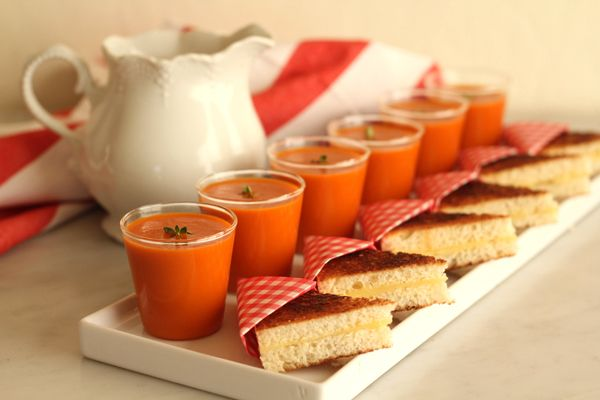 Mini grilled cheese and tomato soup via Oh Happy Day!