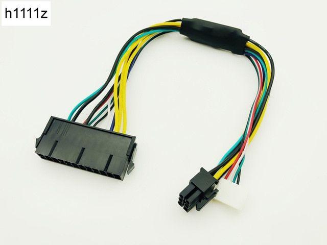 ATX 24pin to Motherboard 2-ports 6pin Adapter PSU Power