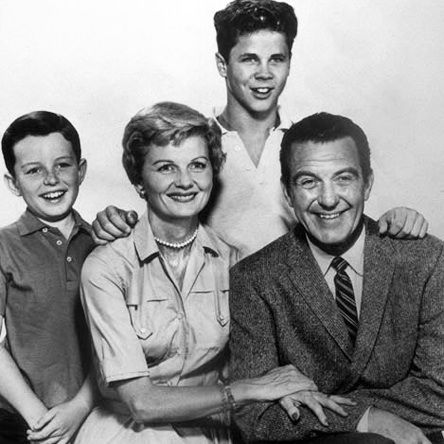 The traditional American family can be known also as the nuclear family. This archetype consists of a male parent and female parent, married, with children of their own. A perfect model of this family would be the family of the 1950 sitcom 'Leave it to Beaver', which almost created the definition of the all American family. The family had a father, who was the main provider for the family, and a mother, who took care of the home and the children, and included two semi-well behaved sons.