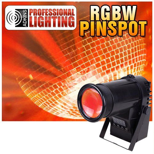 Amazon Com Pinspot Led Quad Color Dmx 10 Watt Red