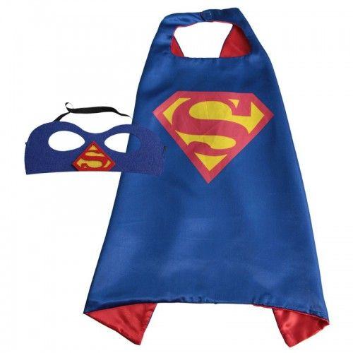 Capa Superman Azul Con Antifaz (1 ud)