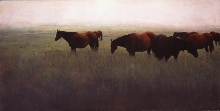 Brood Mares - Giclee Print by Michael Workman