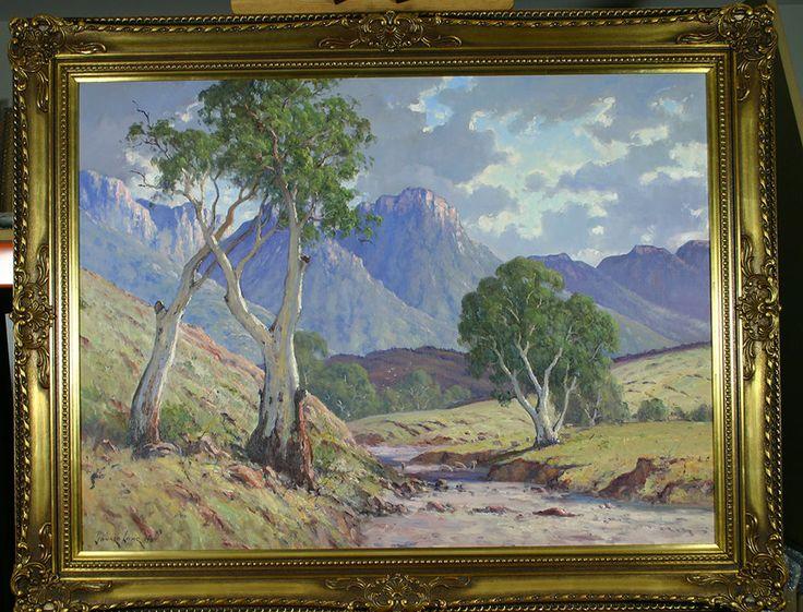 Australian artist Leonard Long  The Rugged Hills Flinders Ranges