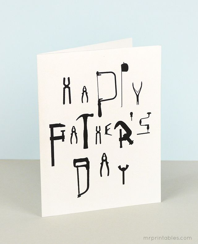 Happy Father's Day card / Mr Printables