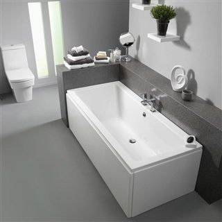 Pura Bloque Double Ended Bath 1700mm x 750mm (No Taphole) with Leg Pack