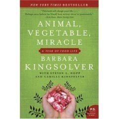 """Bestselling author Barbara Kingsolver returns with her first nonfiction narrative that will open your eyes in a hundred new ways to an old truth: You are what you eat.  """"As the U.S. population made an unprecedented mad dash for the Sun Belt, one carload of us paddled against the tide, heading for the Promised Land where water falls from the sky and green stuff grows all around. We were about to begin the adventure of realigning our lives with our food chain."""