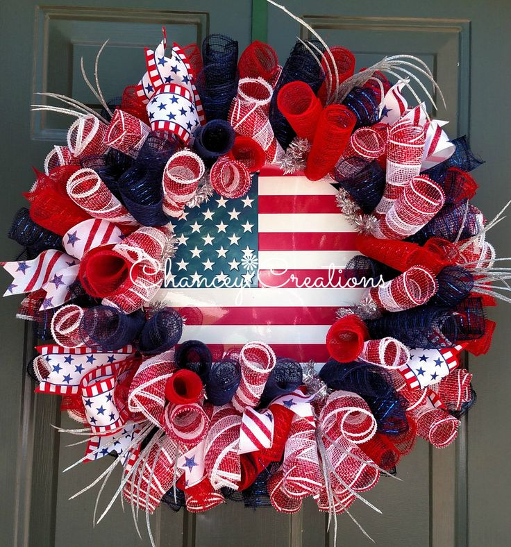 4th of July Wreath, Fourth of July Wreath, Summer Wreath, Fourth of July Decor, Memorial Day Wreath, Patriotic Wreath, Veterans Day Wreath by ChanceyCreations on Etsy