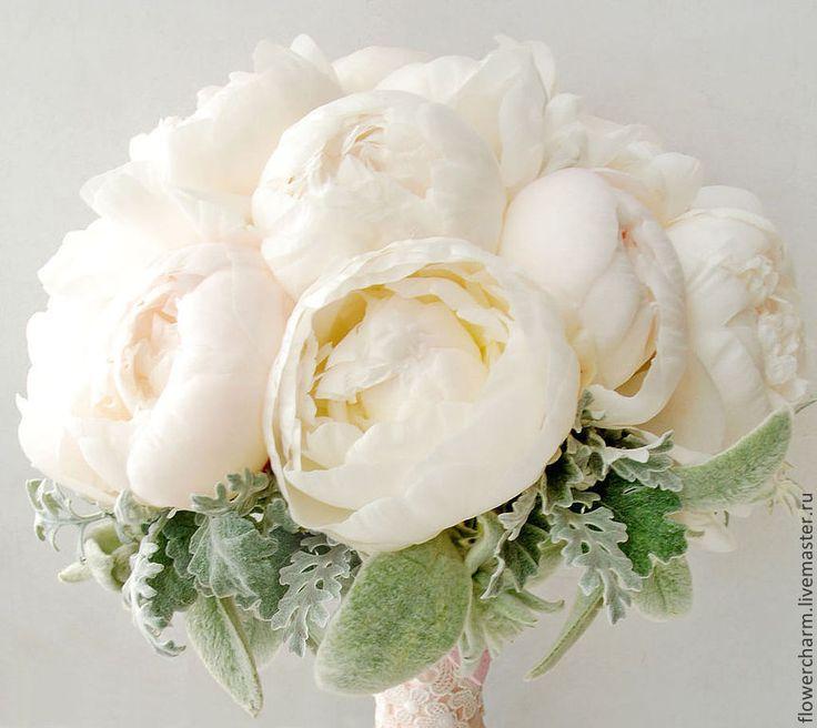 Купить Букет невесты из пионов - бледно-розовый, розовый, пионы, светло-розовый, букет невесты