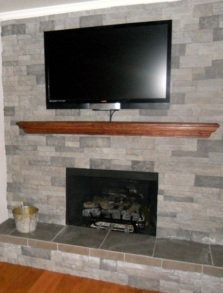 Airstone it s a manufactured stone veneer containing 80 for Fireplace material options