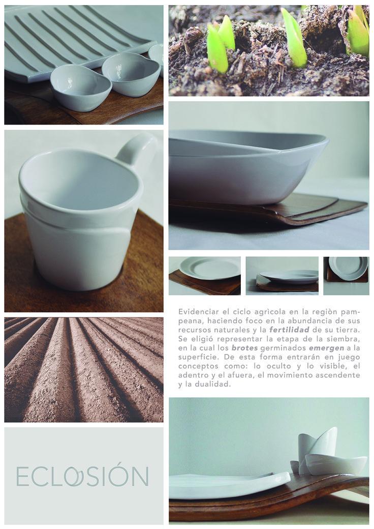 Eclosión, diseño de vajilla inspirada en la Región Pampeana Argentina.