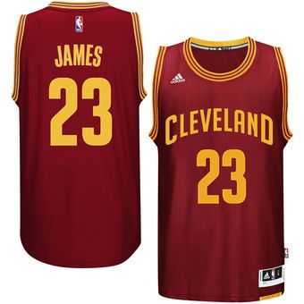 LeBron James Cleveland Cavaliers adidas Replica Road Jersey - Garnet