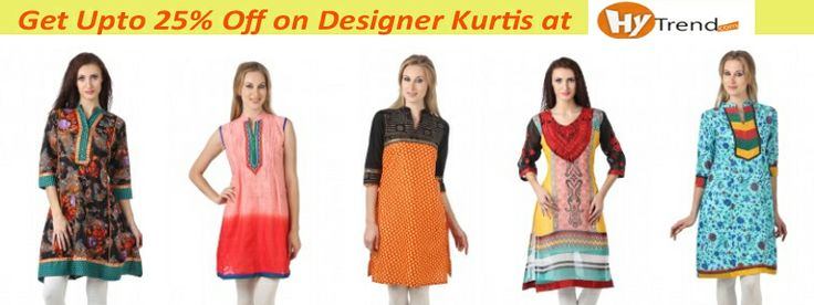 Get upto 25% off on designer Kurtis at Hytrend.com. Don't miss out on the latest collection of Women Kurtis from hot brands at discounted prices. Hurry! Shop today.