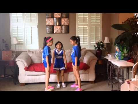 Easy and showy cheer stunts - YouTube