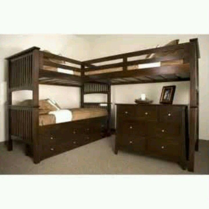 25 best ideas about triple bunk beds on pinterest triple bunk 3 bunk beds and cabin beds for. Black Bedroom Furniture Sets. Home Design Ideas