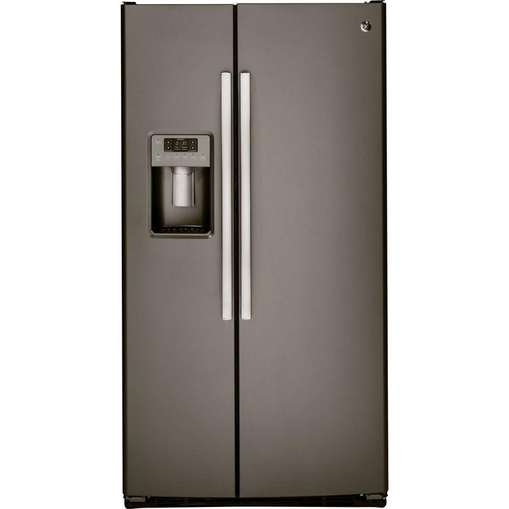 GE 25.4 cu. ft. Side by Side Refrigerator in Slate - GSS25GMHES - The Home Depot